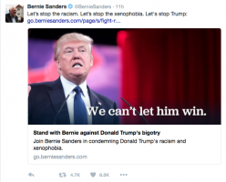 Twitter Sanders