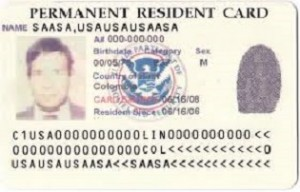 permanent resident card